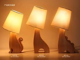 Wooden Table Lamp Aliexpress Com Buy Cute Animal Wooden Table Lamp Deer Dragon Cat