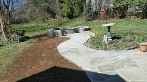 Flagstone Firepit Outdoor Pit Design Installation J J Landscape Management