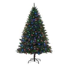 holiday showtime 7 u0027 pre lit emerald peak tree with multicolor lights
