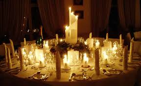 Rustic Christmas Centerpieces - rustic christmas centerpieces candlelit wedding reception tables