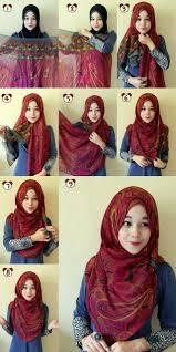 tutorial hijab pashmina untuk anak sekolah 35 cara memakai jilbab pashmina simple kreasi terbaru 2017