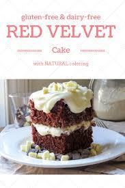 the best gluten free red velvet cake with white chocolate ganache