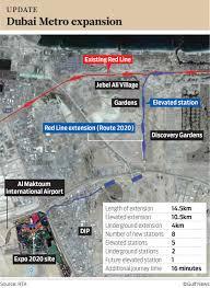 Red Line Metro Map by Dubai Metro U0027s Route 2020 Station Revealed Gulfnews Com