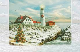 pumpernickel press wildlife cards portland light american made lighthouse themed christmas cards
