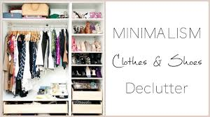 konmari declutter clothes u0026 shoes clean out youtube