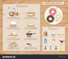 cooking home made donut infographics background stock vector