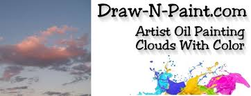 painting sunset clouds with color