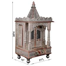 small german silver pooja mandir for home and offices gc152138