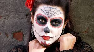 Halloween Skull Face Makeup by Easy Halloween Makeup Sugar Skull Makeup Geek Youtube