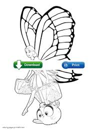 mariposa and the fairy princess free coloring pages