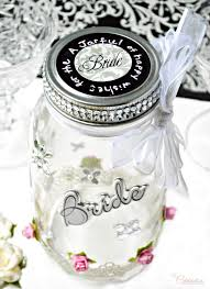 wedding wish jar wishes jar bridal shower gift miss celebration