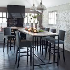 table cuisine grise grande table haute cuisine inspirant table salle a manger haute