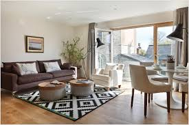 Black And White Modern Rug Splendid Apartment Living Room Interior Design Ideas With