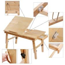 Folding Wooden Bed Amazon Com Foldable Wooden Portable Laptop Table Bed Stand Book