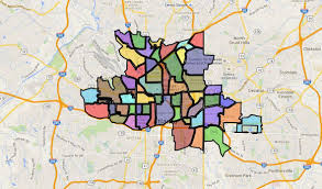 Atlanta Neighborhoods Map by About Intown Atlanta