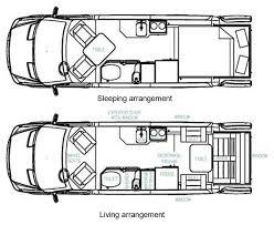 Motorhome Floor Plans Roadtrek Ss Ideal Class B Motorhome Floorplans Large Picture