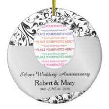 25th wedding anniversary christmas ornament silver wedding anniversary christmas tree decorations ornaments