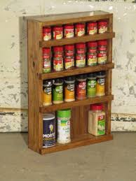 Wall Mount Spice Rack With Jars Kitchen Spice Rack Wooden Wall Mount Rolling Spice Rack Wall