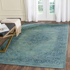 7 X 9 Area Rugs Cheap by Safavieh Vintage Turquoise Multi 6 Ft 7 In X 9 Ft 2 In Area