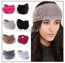 winter headbands winter warmer flower crochet knit headwrap ear warmer hair