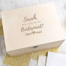 bridesmaid boxes personalised will you be my bridesmaid gift wedding box by dust
