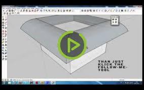 google sketchup follow me tool create a bowling pin