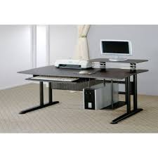 White Desk With Keyboard Tray by Long Thin White Desk Best Home Furniture Decoration
