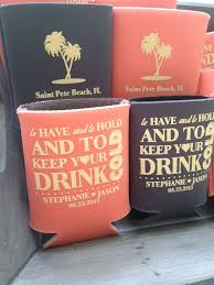 popular wedding sayings personalizing wedding koozies