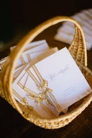 Basket For Wedding Programs Elegant Ceremony Programs Await The Guests Vintage Wedding Ideas