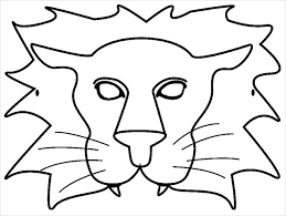 coloring fascinating lion masks print 1 cms epb coloring