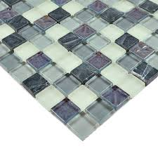 Glass Mosaic Tiles Crystal Glass Tile Kitchen Backsplash Tile - Stone glass mosaic tile backsplash