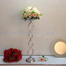 Vase Stands 67cm Tall Silver Wedding Flower Vase Silver Table Flower Stand For