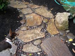 Building Stone Patio by Building A Walkway River Rock Walkway Artificial Turf