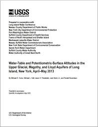water table and potentiometric surface altitudes in the upper