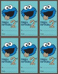 printable monster name tags cookie monster 2nd birthday tag willow bee handmade