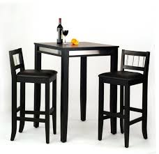 Table Ls Sets Manhattan Pub Table And 2 Stools Set Black Transitional