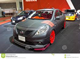 nissan thailand nissan almera show at the second bangkok international auto sal