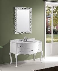 Avola  Inch Bathroom Vanity White Finish Solid Oak Wood - Bathroom vanities solid wood construction