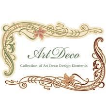 Art Deco Design Elements Art Deco Design Element Corner Royalty Free Vector Image