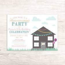 fun housewarming birthday invitation