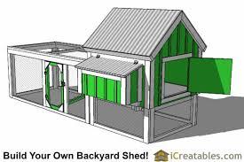 chicken coop plans diy lean to u0026 gable roof chicken coops