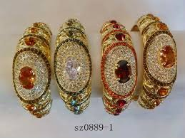 wholesale gold rings images New diamond bracelet bangle with ring attached gold bangle designs JPG