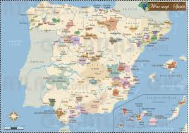 Spain Regions Map by Geoatlas Thematic Maps Wines Regions Spain Map City