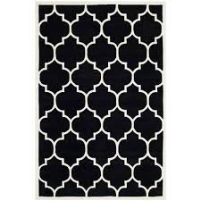 Moroccan Tile Rug Safavieh Chatham Black Ivory 6 Ft X 9 Ft Area Rug Black