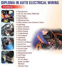certificate in auto electrician