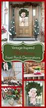 2014 christmas home decor tour atta girl says so many lovely vintage inspired christmas porch inspirations