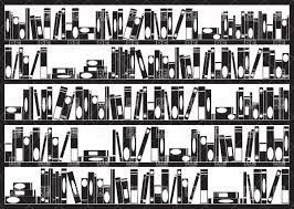 simple books arranged on bookshelves vector image 34735 u2013 rfclipart