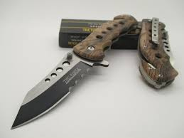 amazon black friday knife tac force assisted opening linerlock belt clip brown camo design a