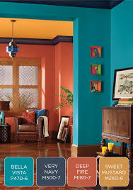 family room color navy yellow orange navy blue color scheme