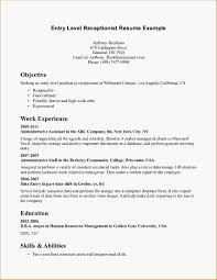 Bartender Resume Objective Examples by Resume Objective Examples Entry Level Free Resume Example And